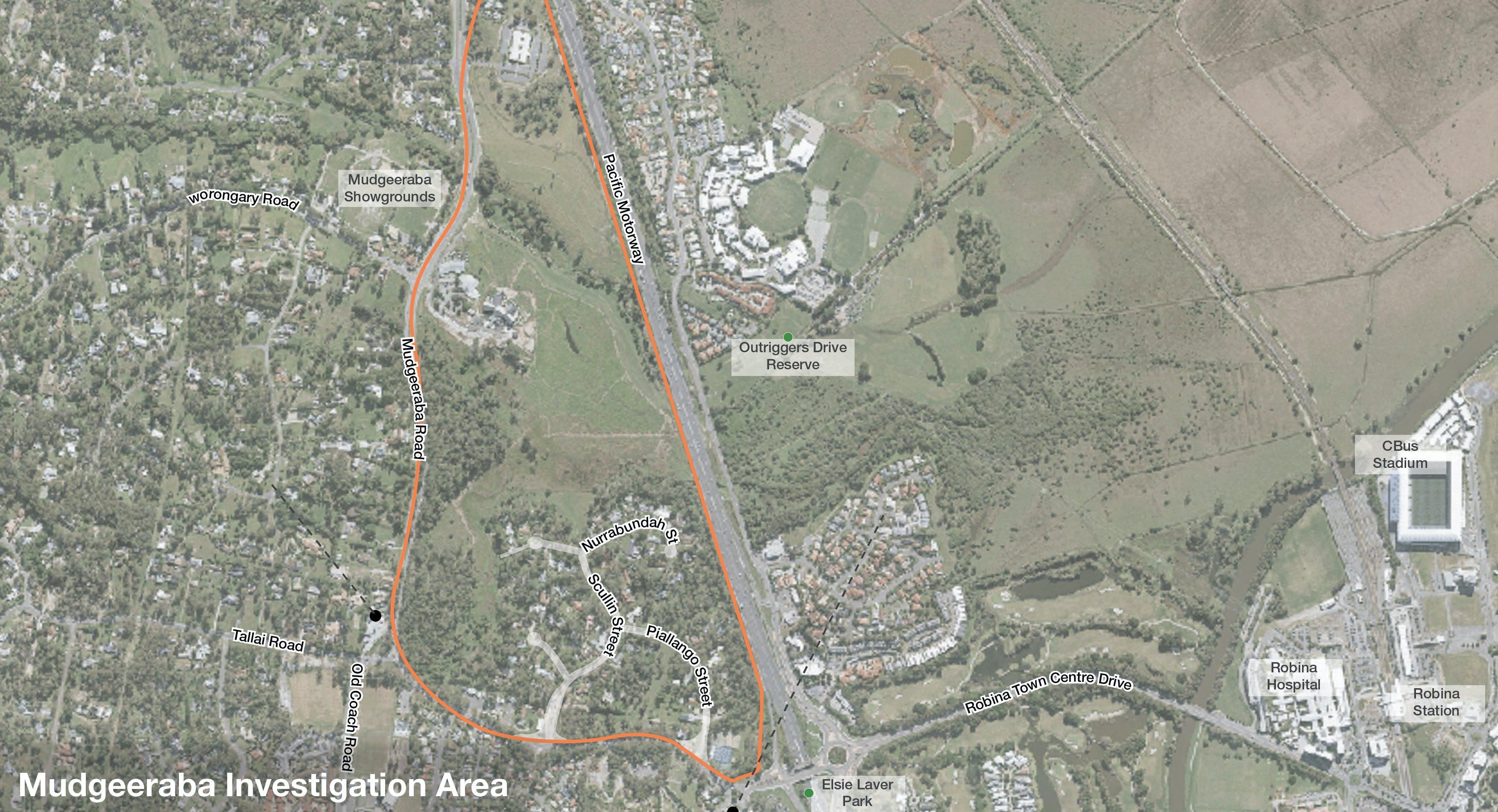 Investigation Area Mudgeeraba Map