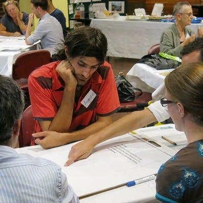 At Forum A - working on 'Waterways'