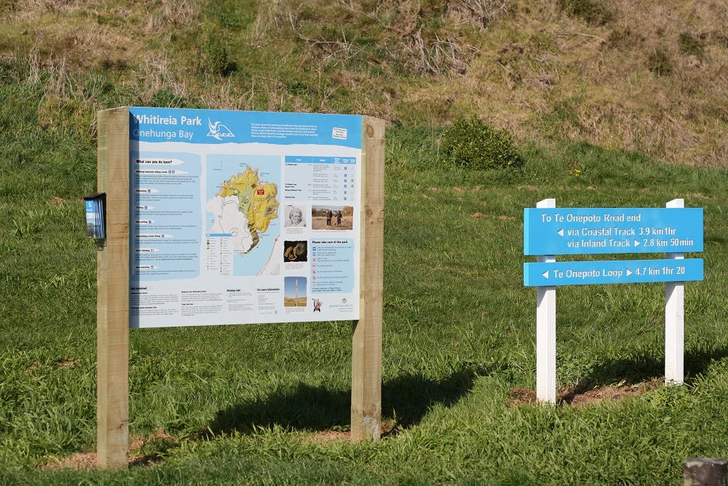 Map board and way markers