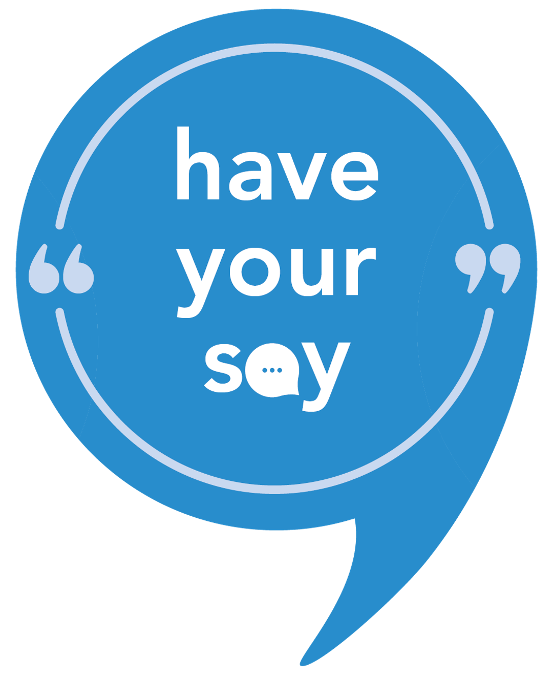 Have your say logo   successful blue