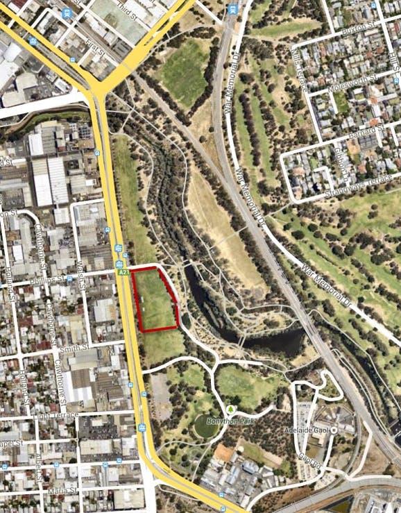 Proposed Licence Area – Bonython Park/Tulya Wardli