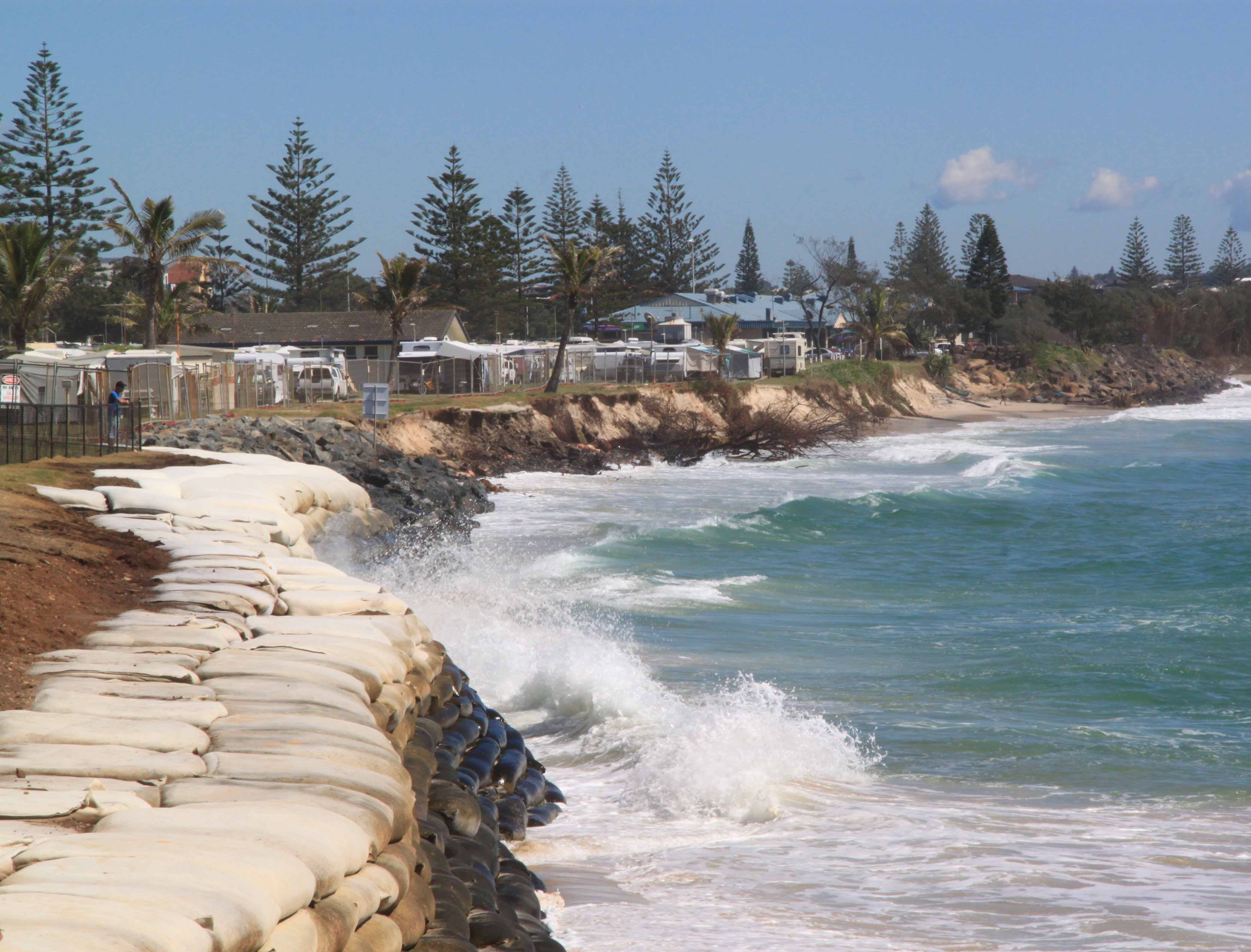Temporary foreshore protection constructed to half erosion in 2012.
