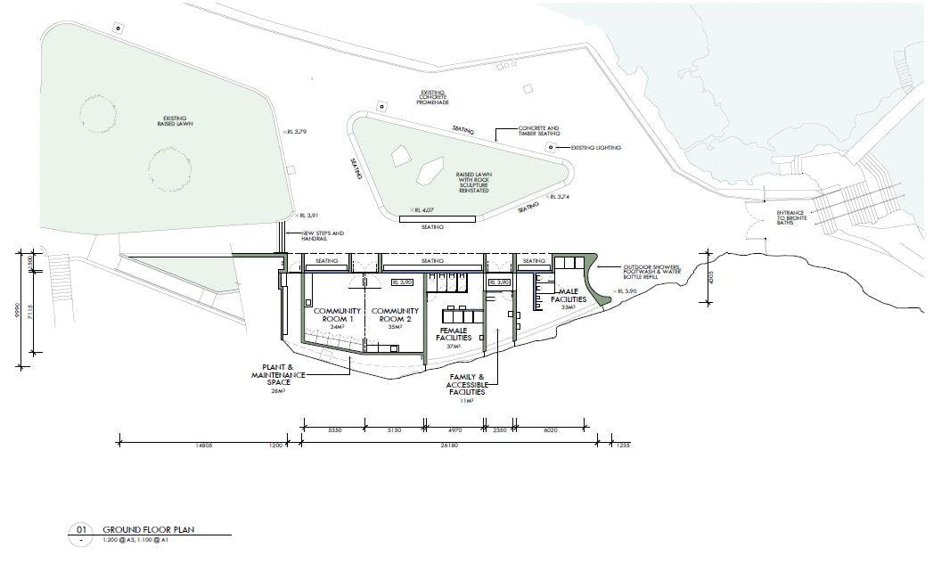 Final plan for South Bronte Amenities and Community Centre