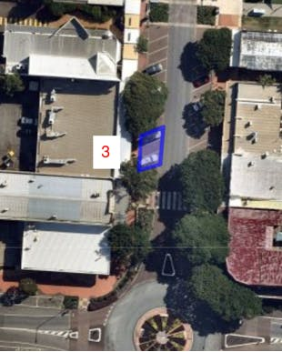 Allocated spaces at southern end of Bloomfield Street - three spaces approximately in front of Bloomfield Street News