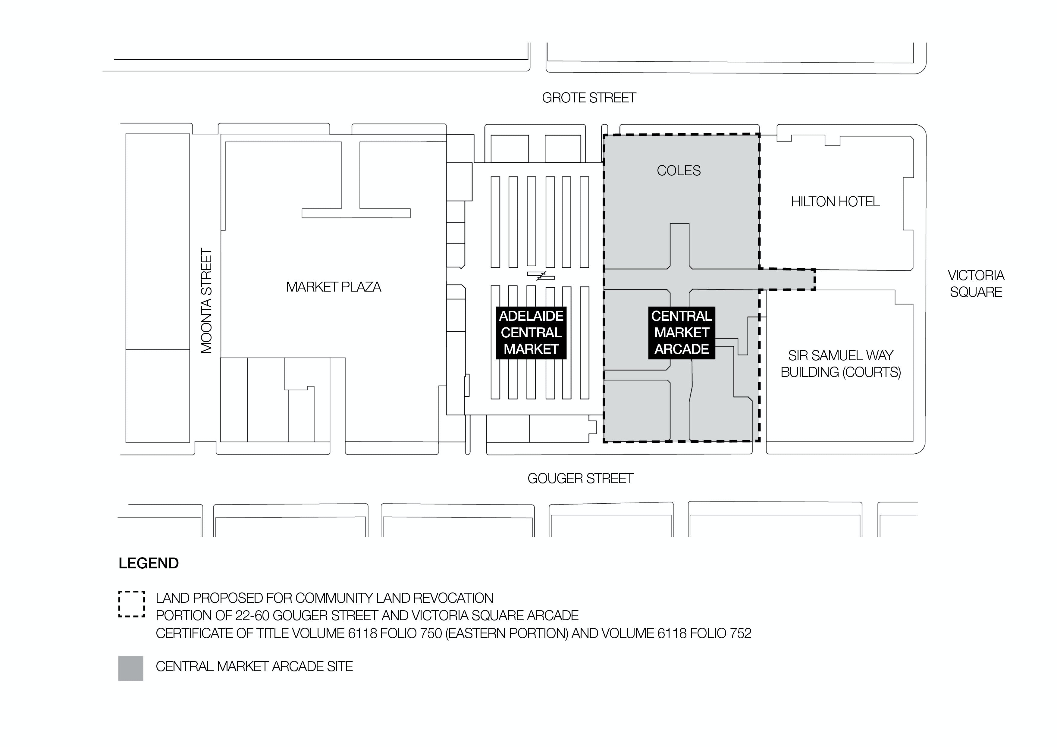 Plan Showing Affected Land   Community Land Revocation   Central Market Arcade