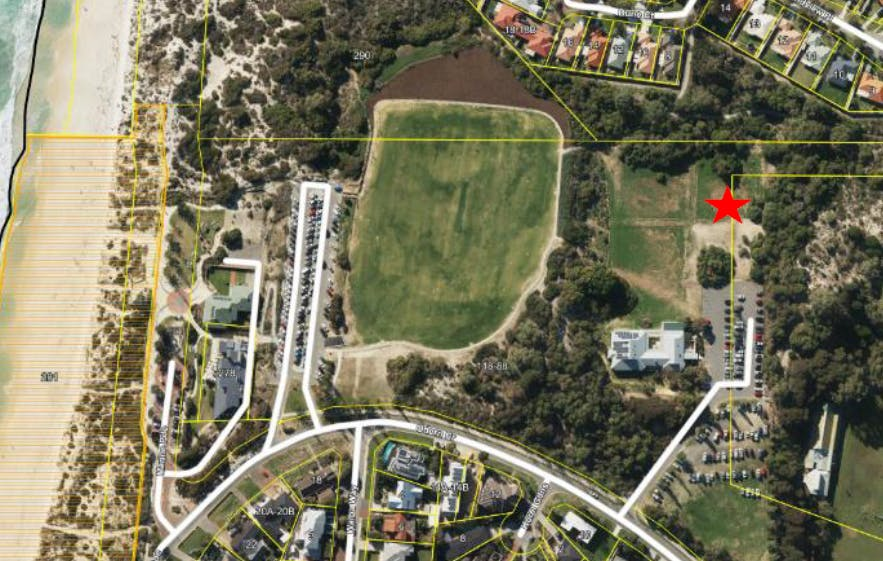 Aerial view of proposed site