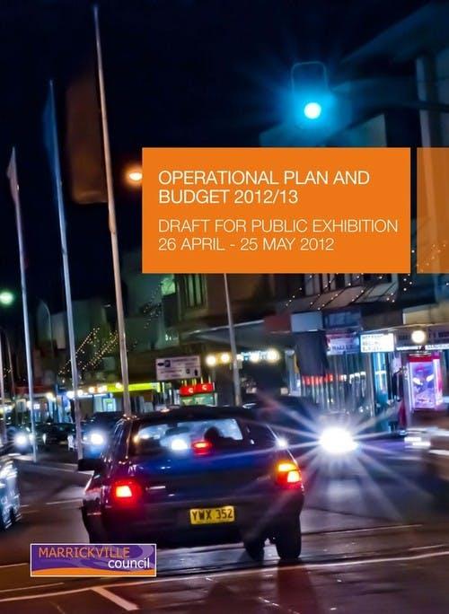 Marrickville Draft Operational Plan