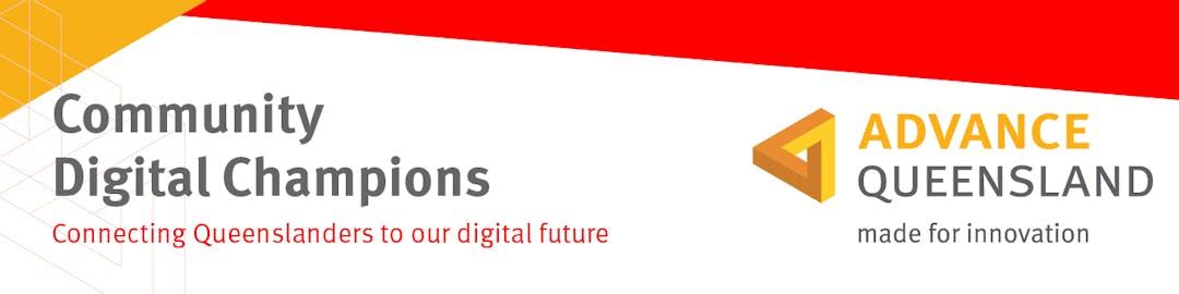 Advance Queensland Community Digital Champions logo