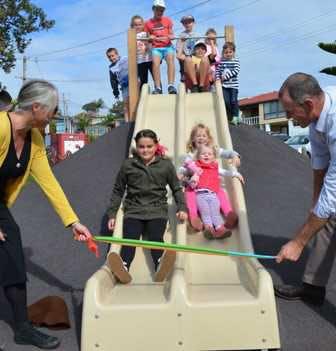 Rainbow Beach Playground Slide Opening