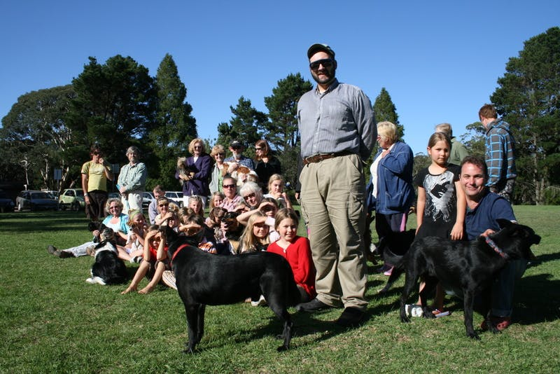 Recreation with dogs at Leura Oval