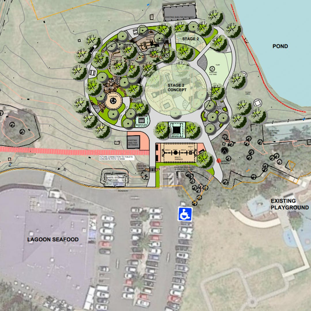 Concept design for All Abilities & Ages Play Space Stuart Park