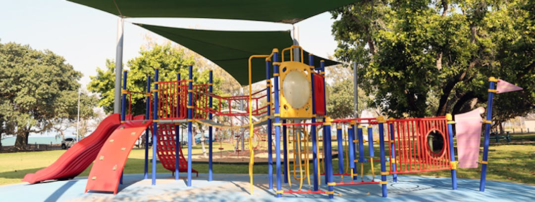 Current playground that is at Walter Nesbit Park.