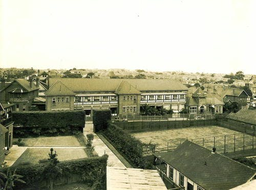 View Of Hospital From Mth Roof In 1936