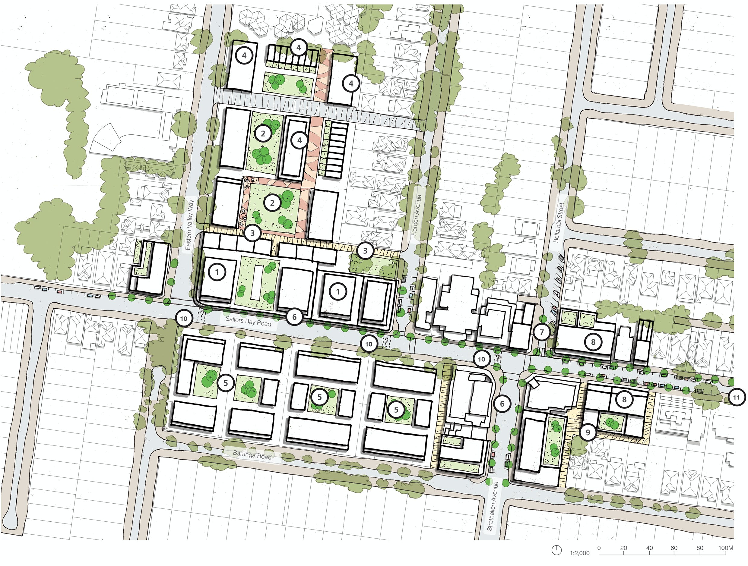 Indicative Northbridge Master Plan