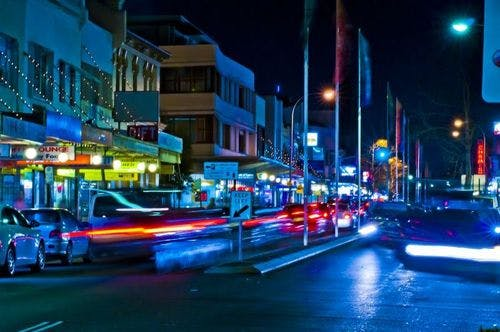 Marrickville Road by night
