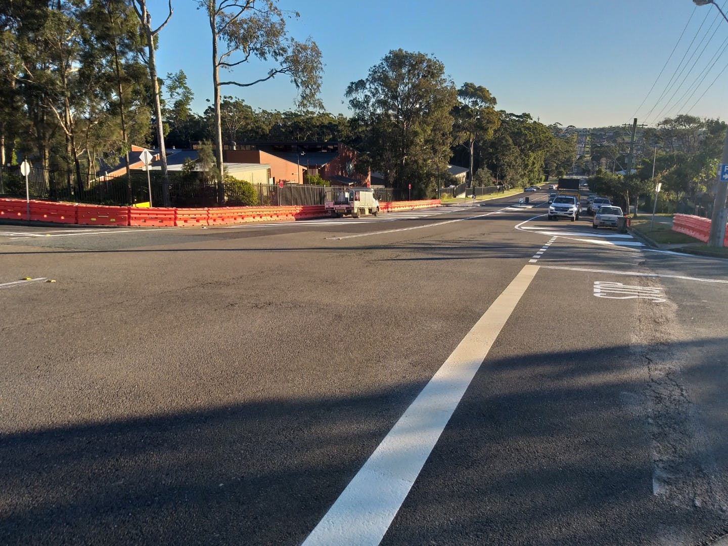 St Vincent Street line marking and barriers.jpg