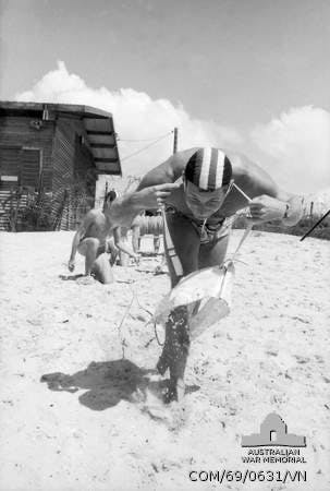 South Vietnam. 1969. The Army's surf lifesaving club