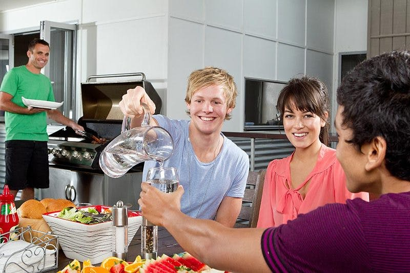 Gold Coast residents enjoy a drink of water