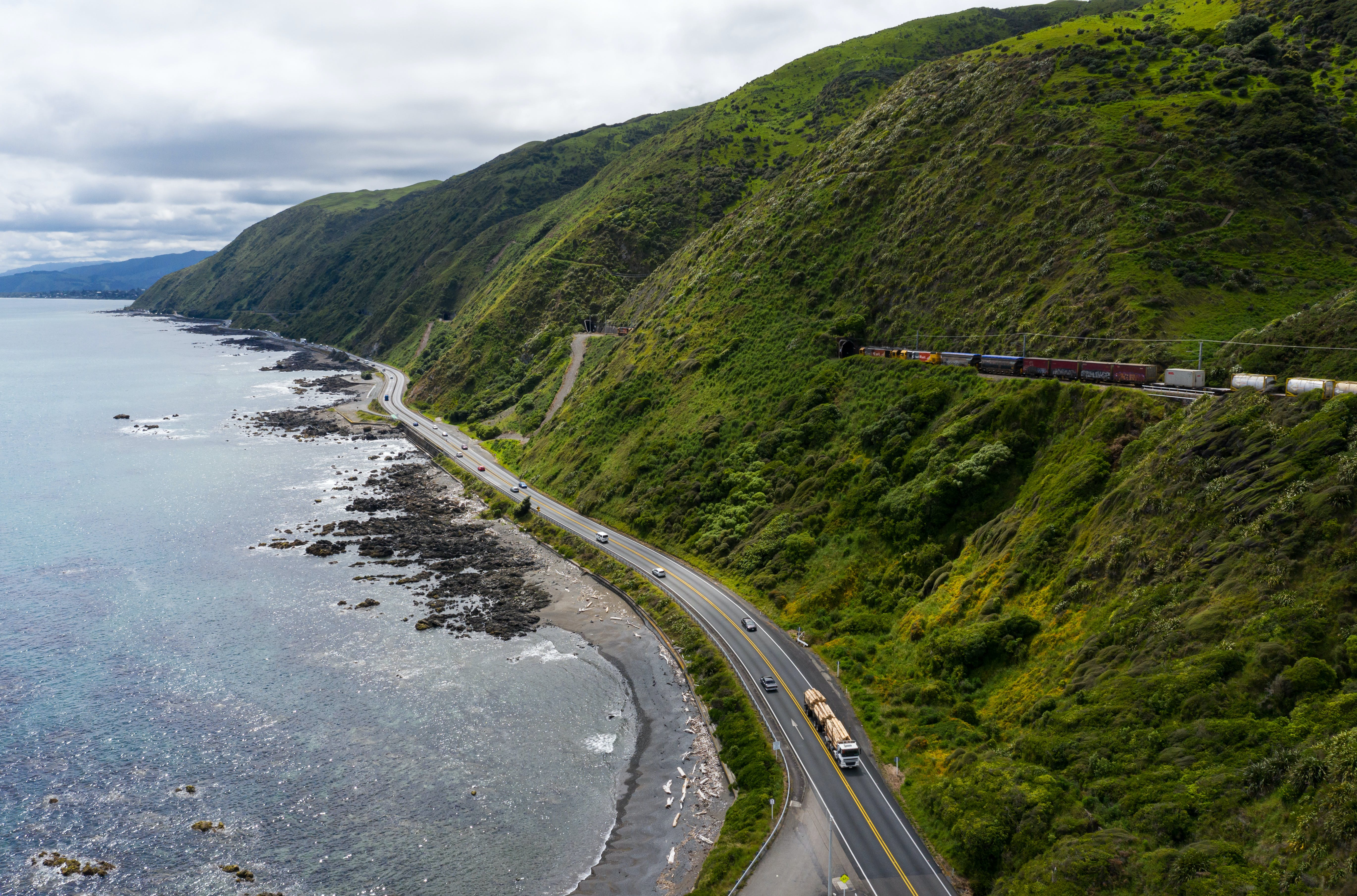 State Highway 1 on the Kapiti Coast