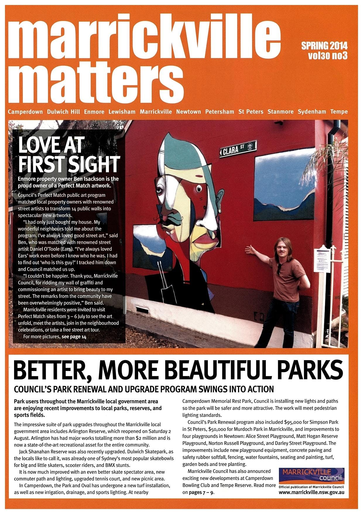 Front Cover Marrickville Matters Spring 2014