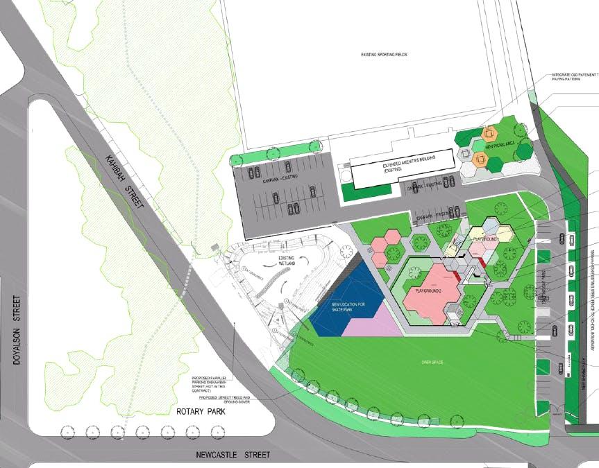 Morisett Skate Park Footprint   Bernie Goodwin Memorial Park