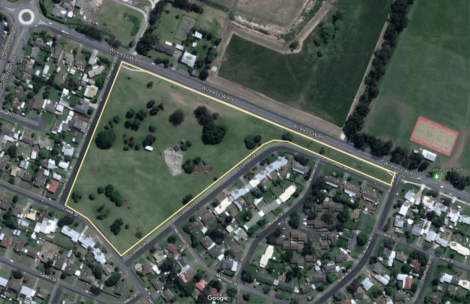 AH Sutton Reserve - Aerial View