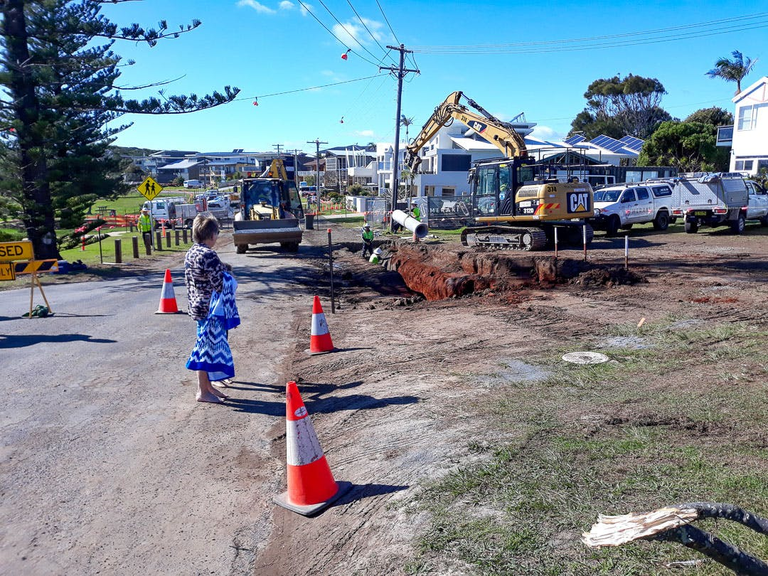 Major drainage works underway on Second Avenue in mid-July