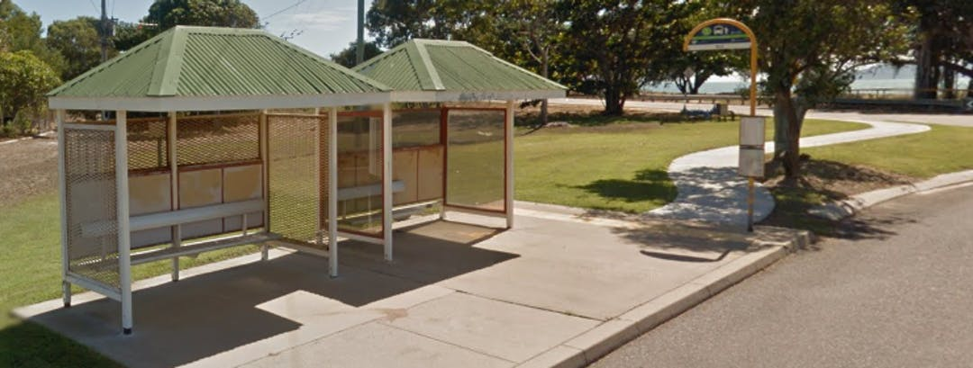Existing bus stop fronting Rowes Bay Villas.