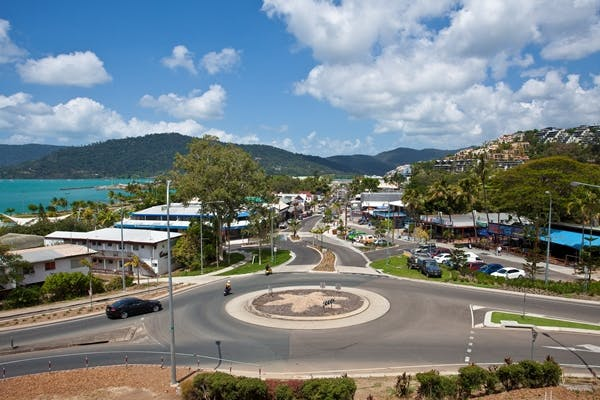 Southern facing shot of Airlie Beach.