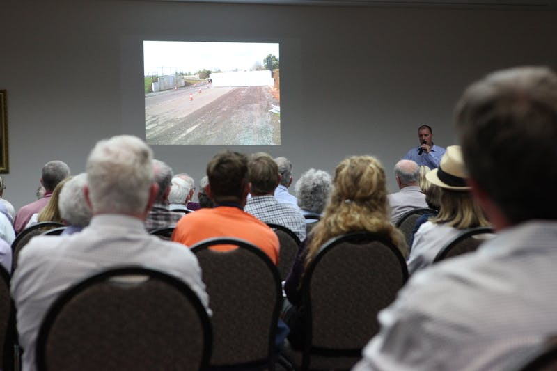 Project Manager Brad Jeffrey presenting at Central Wagga
