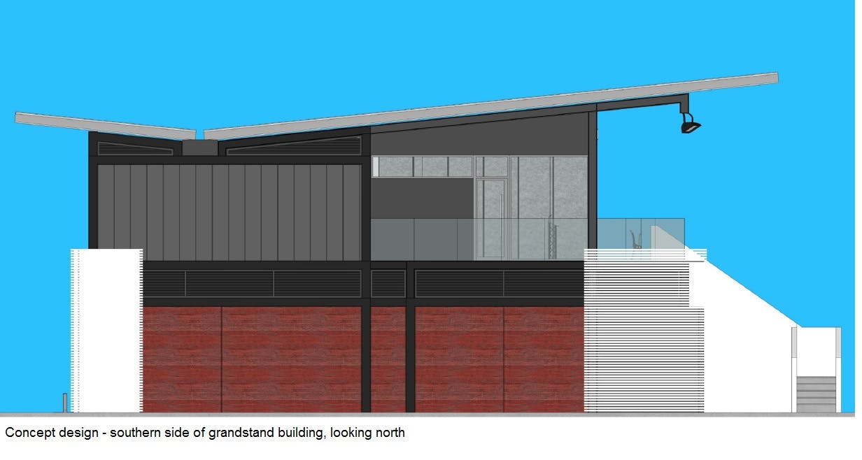 Concept Image of Goodwood Oval Grandstand Southern Side