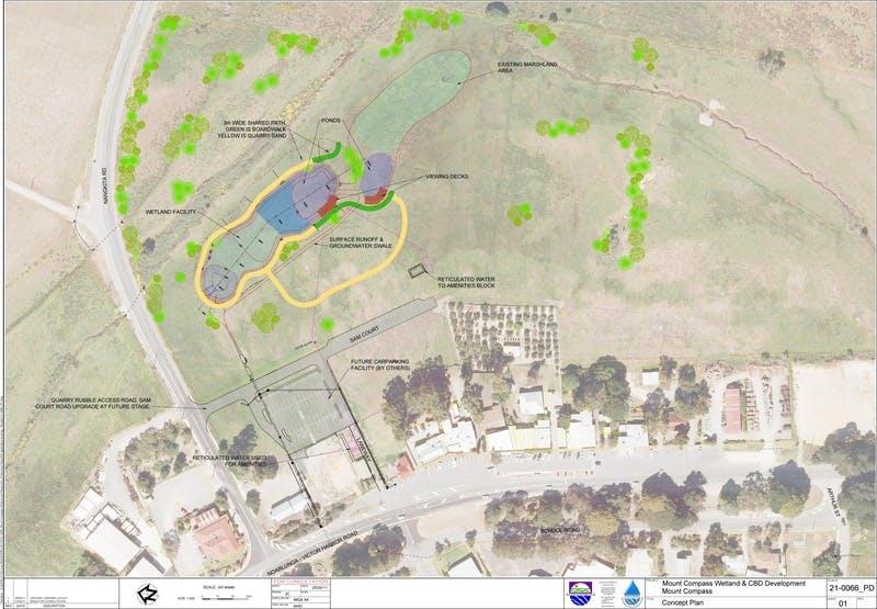 Mount Compass Wetlands Concept Plan 21-0666 PD01
