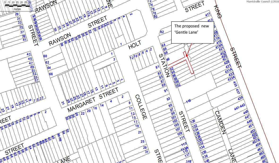 Locality Map Of Laneway