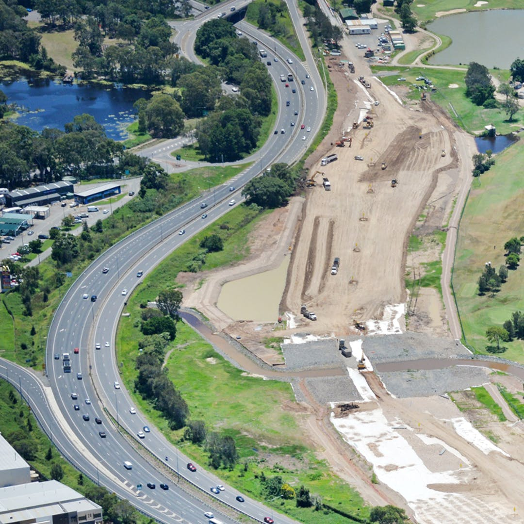Roadworks on the Gateway Motorway