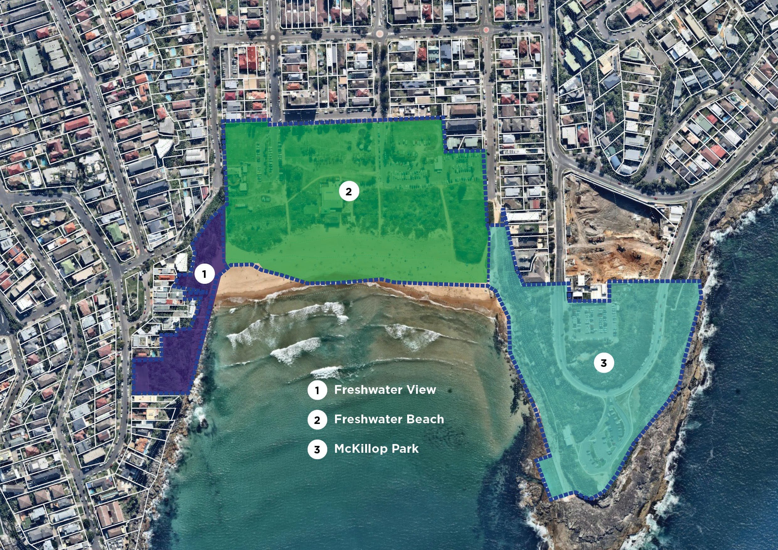 Freshwater coastal open space revised map 31 march 2017