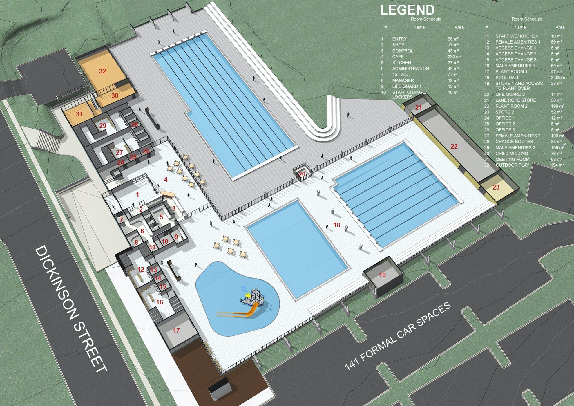 Charlestown Leisure Centre proposed ground floor plan