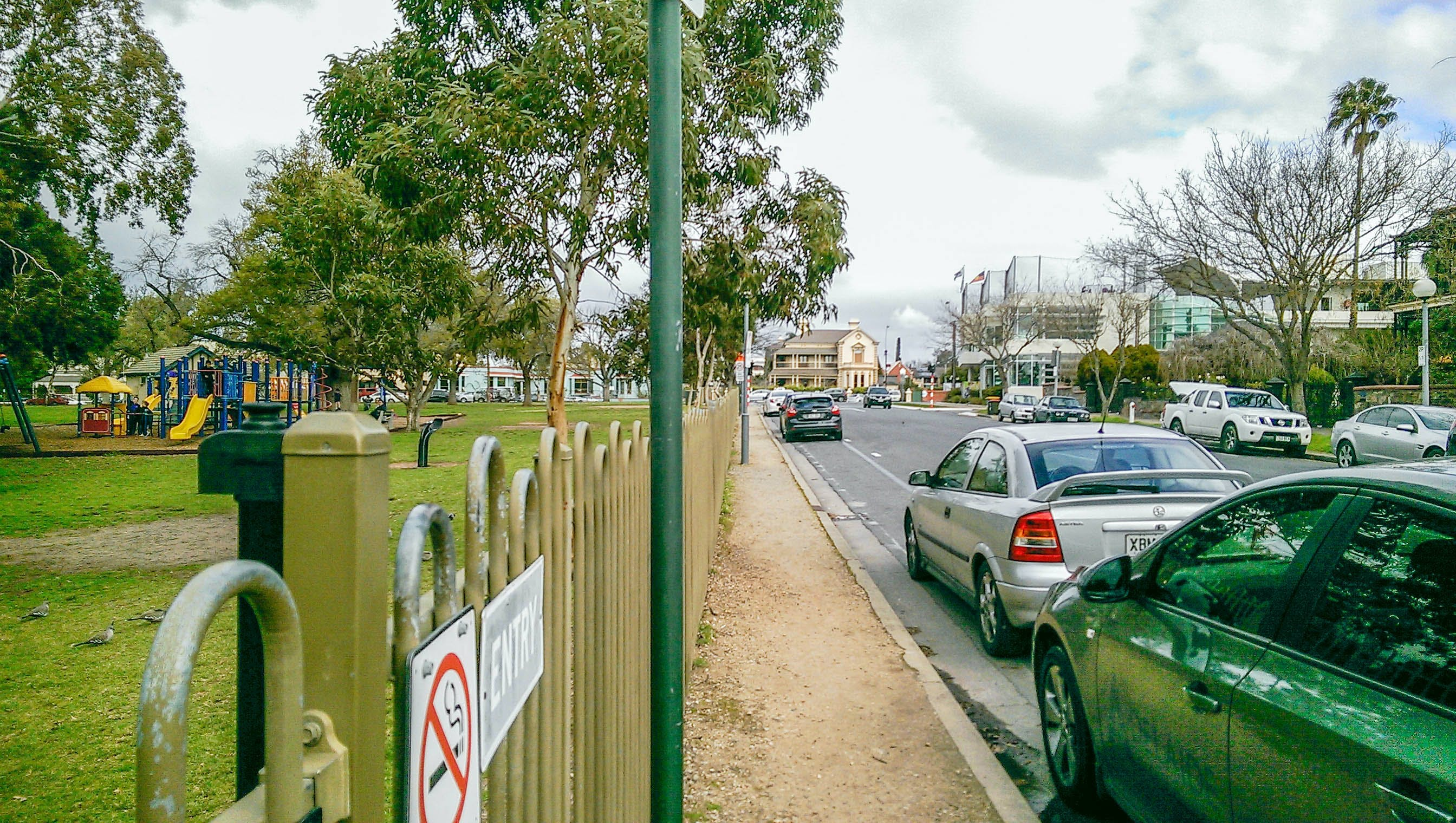 2. Existing View   Unsealed Path Between Fence And East Tce
