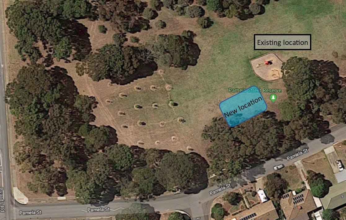 Pamela New Playground Location Map