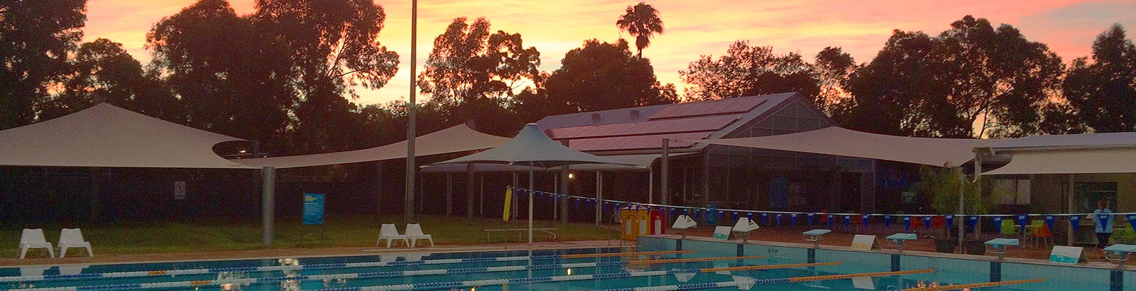 Sunrise at the Unley Swimming Centre