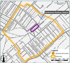 Sydenham Parking Study map
