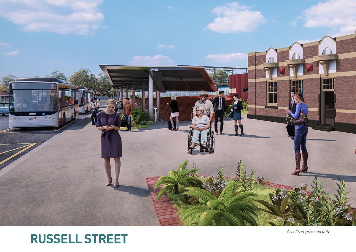 Russel Street - Artist impression only