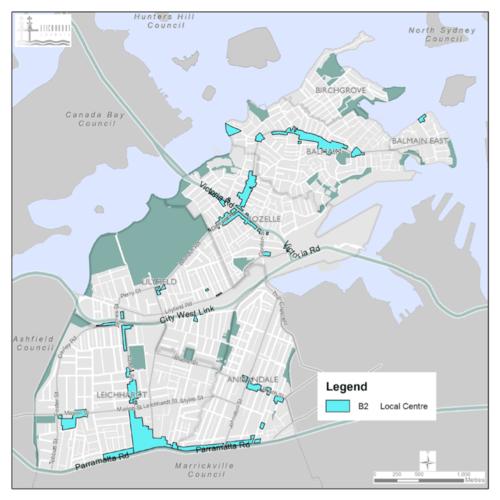 B2 Local Area Zones