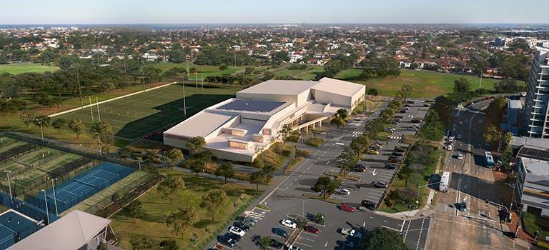 Heffron Centre aerial view artist impression
