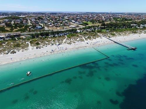 Shark net at Coogee Beach
