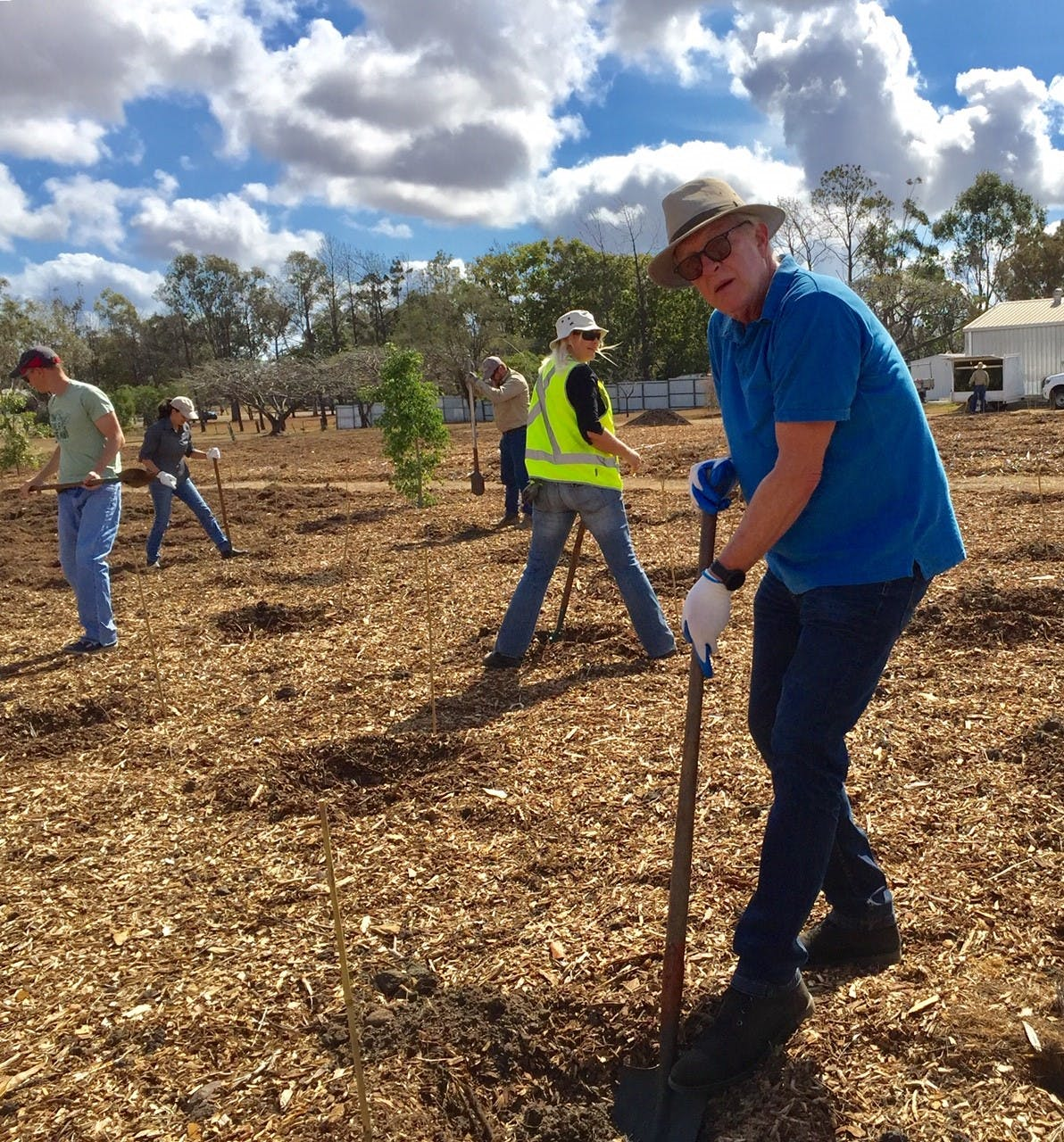 Council's Chris Kettle hard at work helping plant 500 trees.jpg