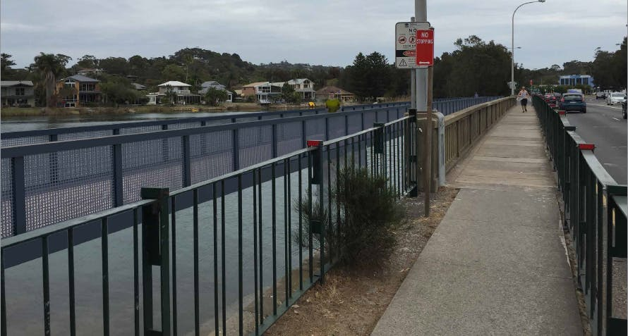 Pittwater rd pedestrian and cycle bridge