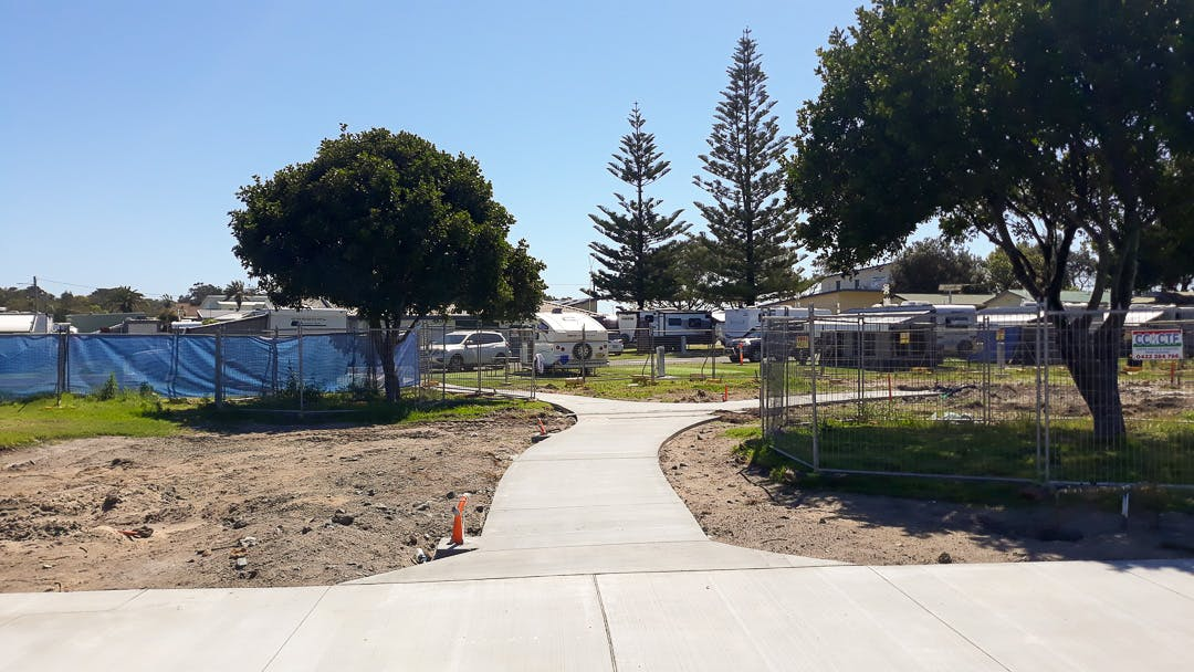Pathway connection to the caravan park.