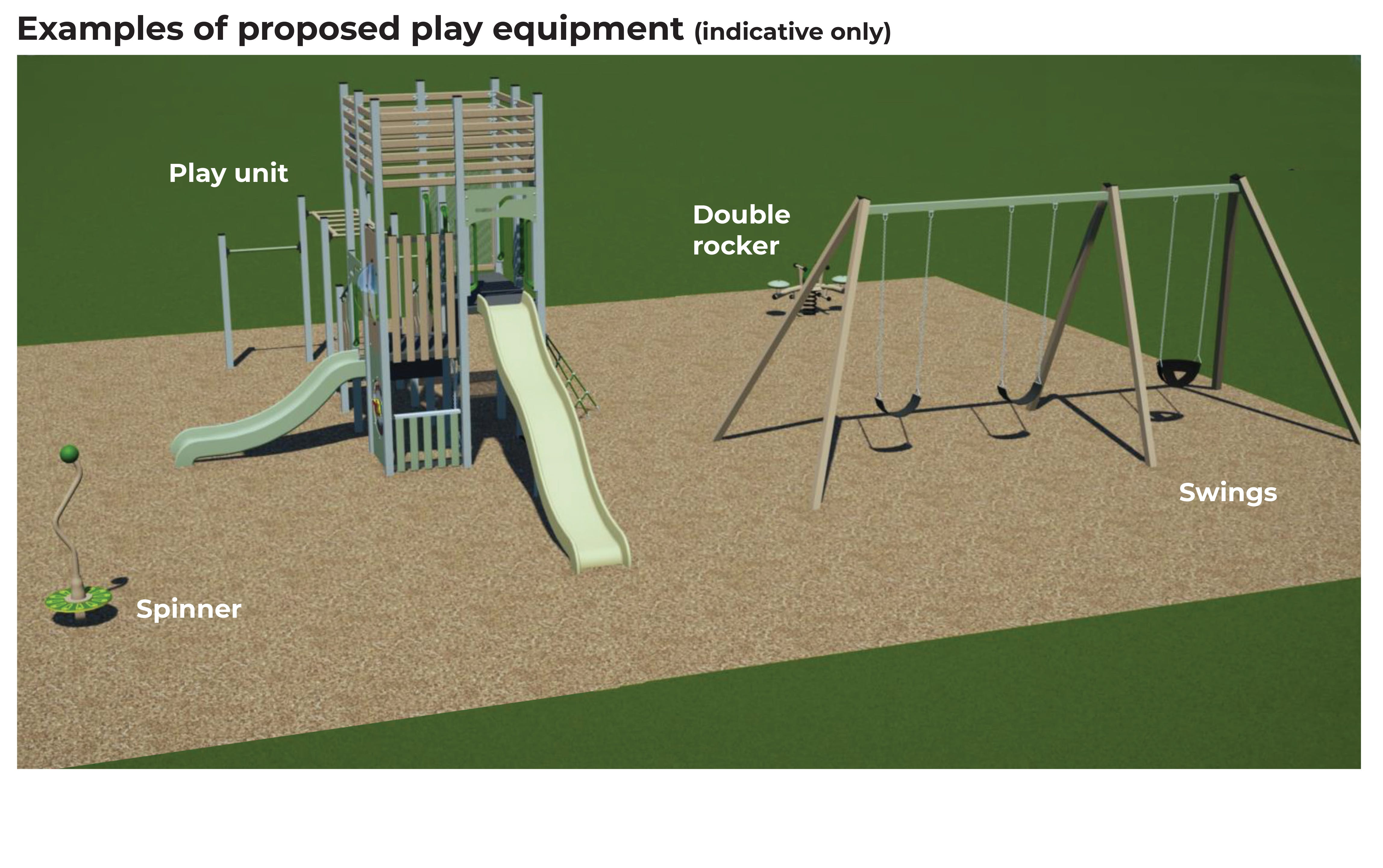 William Canning Reserve - Proposed Play Equipment