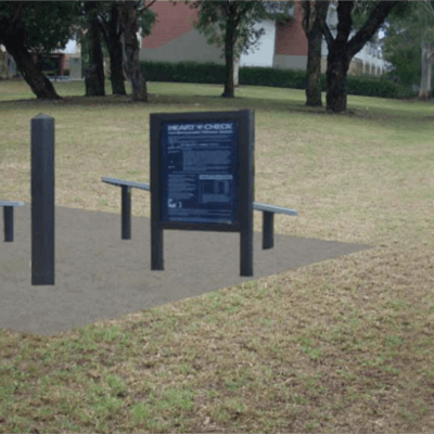 Example of outdoor exercise equipment