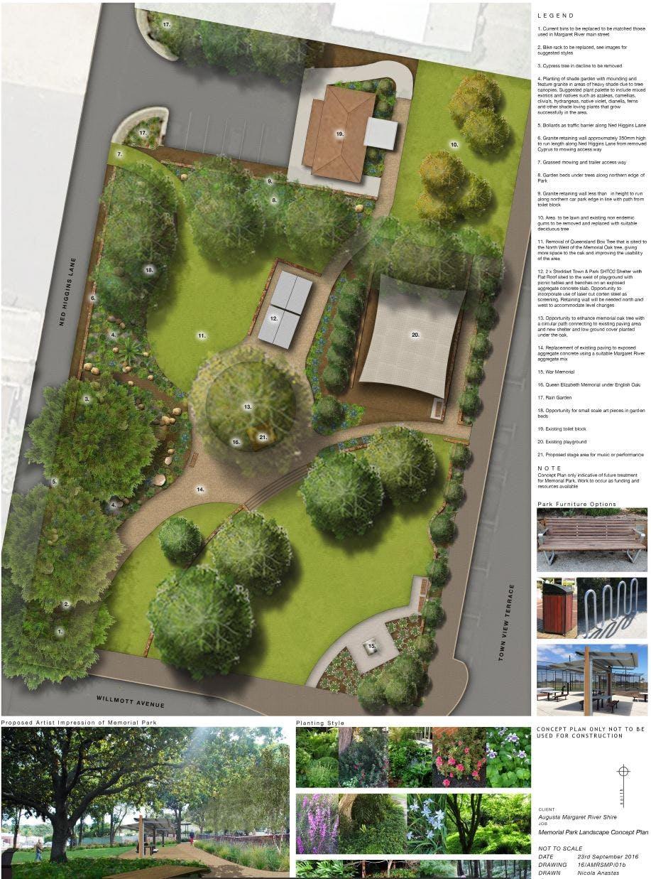 Concept Plan for Memorial Park